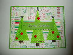 Merry Christmas Tree Trio