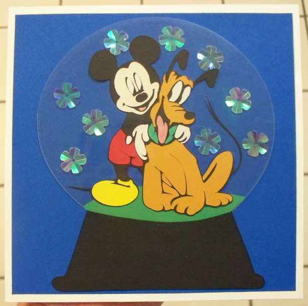 Mickey Mouse Snowglobe card