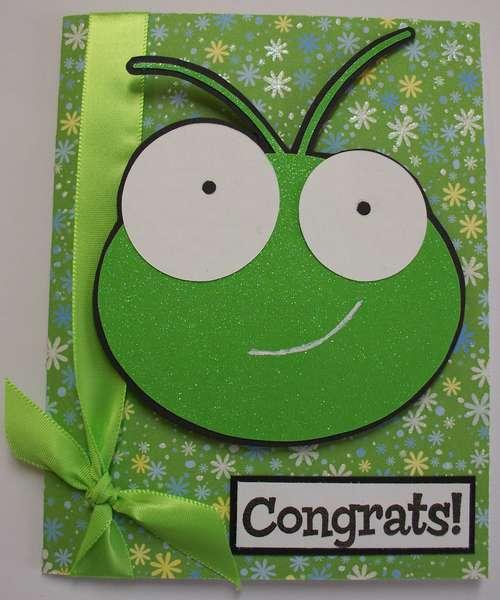 """Cricut """"cricket"""" Congrats card"""