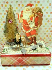 Santa box - gift card holder