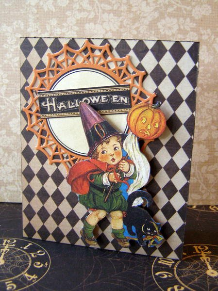 Scared Trick or Treater Card