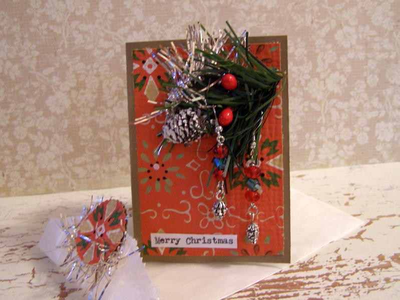 Christmas card and earrings