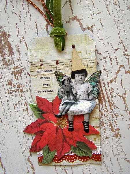 Christmas in Fairyland tag