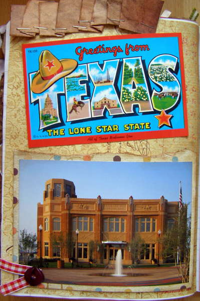 Melanie's Postcard Journal - left side