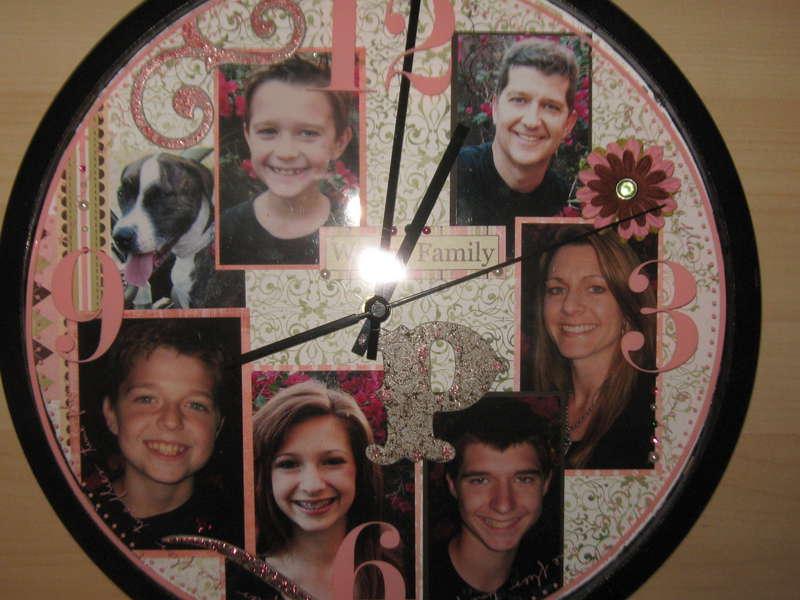 Scrapbooked Clock