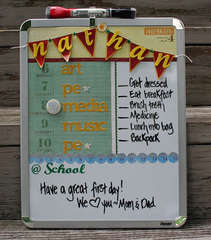 Back to School Altered Whiteboard