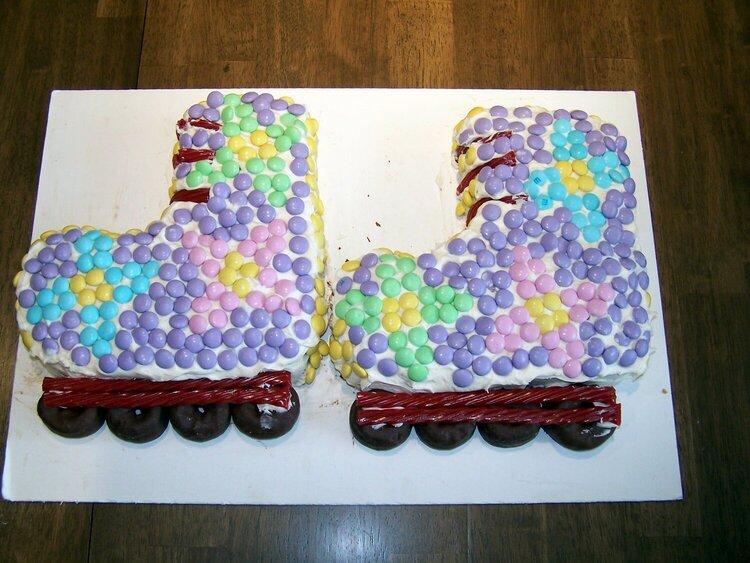 Roller Blade cake