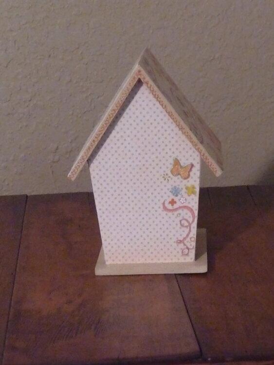 Back of my birdhouse