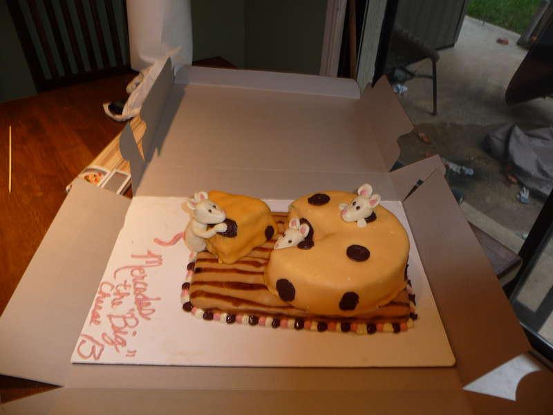 Big 13 Cheese birthday cak