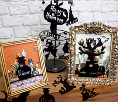 Tim Holtz and Paper Accents Halloween Frame