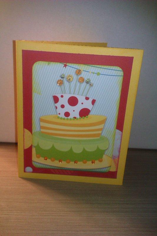 Bo Bunny Birthday card