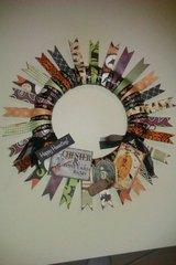Halloween paper wreath