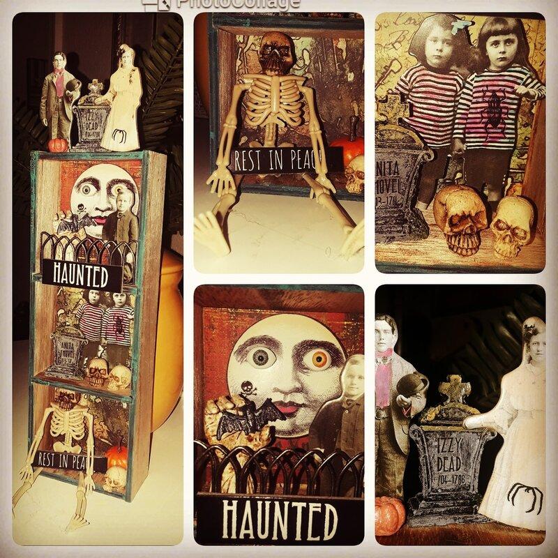Tim Holtz Halloween Shadow Box
