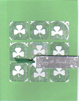 St. Pat's Day Grid Card