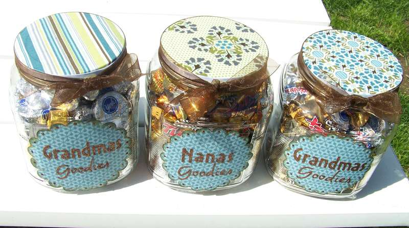 Grandma's Goodies Jars top view