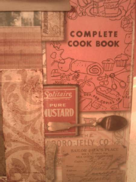 Clipboard Recipe Holder - close up of cooking-themed paper
