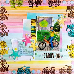 Carry On Scrapbook Page