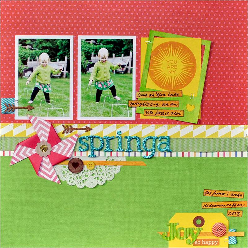 running *Cocoa Daisy July kit*