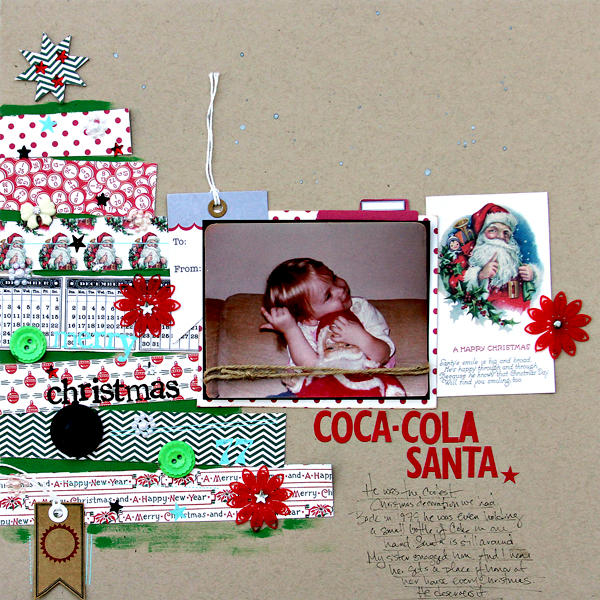 Coca-Cola Santa by Corrie Jones for Jenni Bowlin Studio