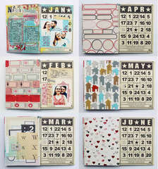 Calendar Mini Album by Jill Sprott