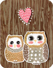 Designer Woodgrain and Owls