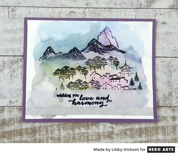 STAMPED INK PAINTINGS by Libby Hickson