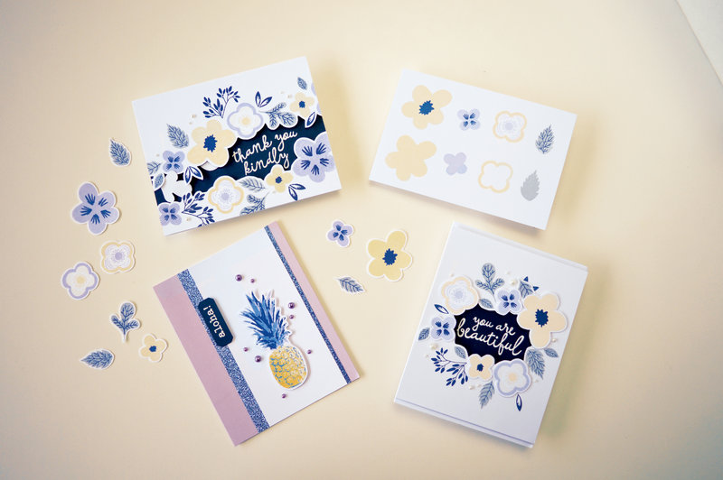 Clare's Color Layering Flowers Card