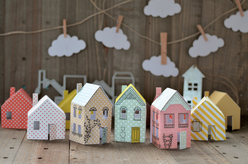Create your own little tiny villiage of houses, complete with street map.