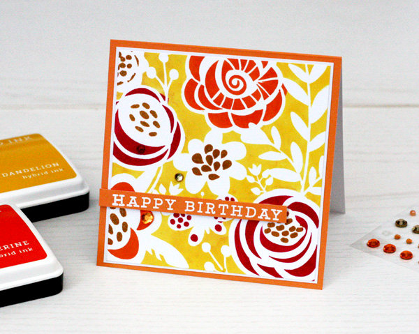 Hero Arts New Bold Inks and Stencil Cards by Kelly Rasmussen