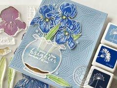 Color Layering Iris in Vase