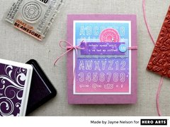 Hero Arts Designer, Jayne Nelson, creates card backgrounds with Clearly Kelly Stamps