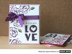 Love Little Heart Cards by Jayne Nelson for Hero Arts