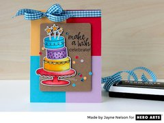 Birthday Cake Layering with Jayne Nelson for Hero Arts