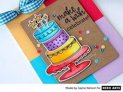 Birthday Cake Layering with Jayne Nelson for Hero Arts
