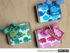 Matchbox-style Cards by Jayne Nelson for Hero Arts
