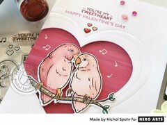 Heart Framed Love Birds Card