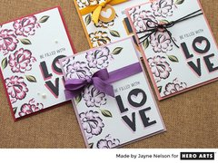 Love Little Heart Cards by Jayne Nelson for Hero Arts