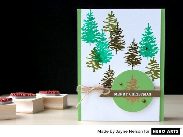 Paintbrush Christmas Tree Card by Jayne Nelson