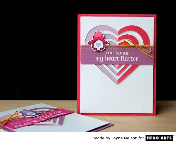 Hero Arts Paper Layering Heart Valentines