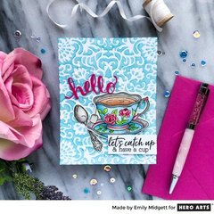 SOME TEA AND STENCILS... by Emily Midgett