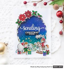 Winter Holiday Shaker Card