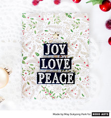 Joy Love Peace by May Sukyong Park for Hero Arts