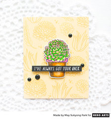 Succulent Card: I've Always Got Your Back!