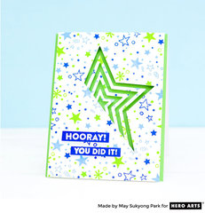 Graduation Card with Paper Layering Star by May Sukyong Park for Hero Arts