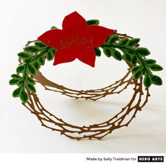 Standing Wreath Placecard