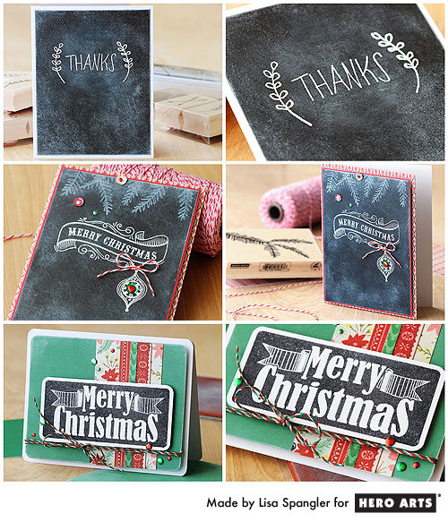 Hero Arts Chalkboard Cards by Lisa Spangler