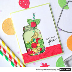 Fruit Shaker Card by Mariana Grigsby for Hero Arts