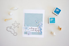 Color Layering Seahorse Card