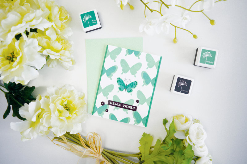 Color Layering Butterfly Card by May Park