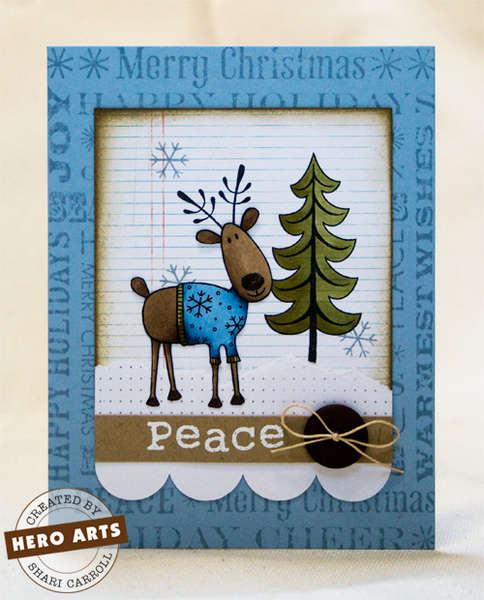 Reindeer with Sweater by Shari Carroll